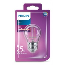Philips LED filament lamp E27 2W (25W) kogel
