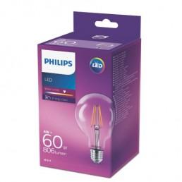 Philips LED filament lamp E27 6W (60W) globe