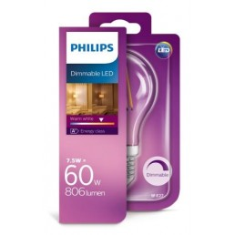 Philips LED filament lamp E27 7,5W (60W) dimbaar