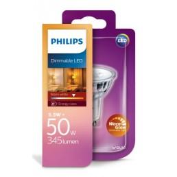 Philips LED WarmGlow led lamp GU10 5,5W dimbaar