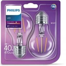 2-pack Philips led filament E27 4W (40W)