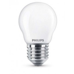 Philips LED kogellamp 4.3W mat 2700K