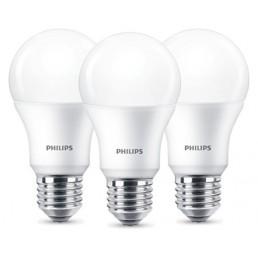 3-pack E27 led lamp Philips 8,5W (60W)