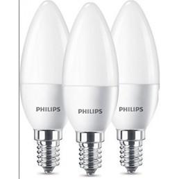 3 stuks E14 led lamp Philips 4W (25W) 2700K