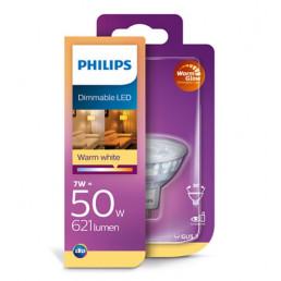 Philips LED WarmGlow led lamp GU5.3 6,5W dimbaar