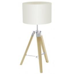 94323 Eglo Lantada tafellamp hout / beige
