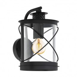 94843 Eglo Hilburn Zwart wandlamp