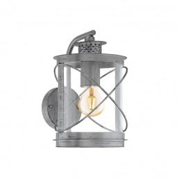 94866 Eglo Hilburn 1 zilver wandlamp
