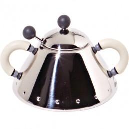 ale-9097WI-ivo Alessi Sugar Bowl Suikerpot Ivoor (Beige)
