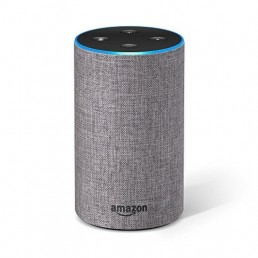 Amazon Echo (2nd Generation) with improved sound Heather Gray Fabric