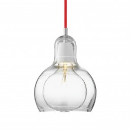 &tr-200442-rod &tradition Mega Bulb Hanglamp Transparant Snoer (Rood)