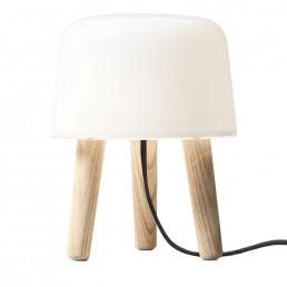 &tr-20403094-zwt &tradition Milk Tafellamp Zwart Koord (Beige)