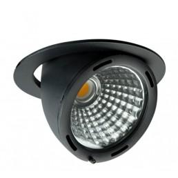 Banaanspot LED zwart 1100lm 2200K >80Ra 15gr.