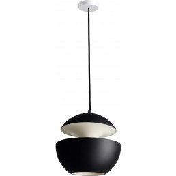 dcw-hcs-250-bl-wh DCW éditions Here Comes The Sun hanglamp 25 cm zwart met wit