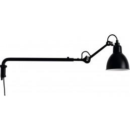 dcw-n203-bl-sat DCW éditions Lampe Gras N203 wandlamp zwart
