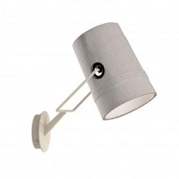 die-LI0452-25-E Diesel Fork wandlamp grijs kap ivoor onderstel