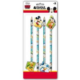 Disney Mickey Mouse potloden met gum