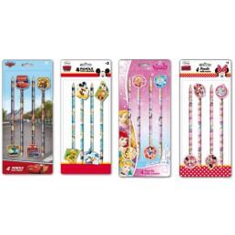 Disney potloden met gum 4 sets