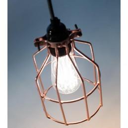 Lichtlab No.15 Kooi koper industriële hanglamp