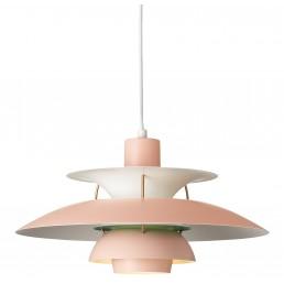 lou-5741095010 Louis Poulsen PH 5 hanglamp pale rose/ green