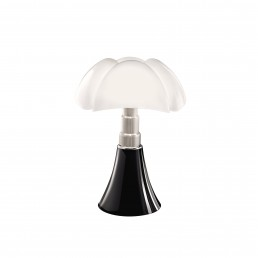 mrt-620-J-T-MA Martinelli Luce Mini Pipistrello tafellamp LED met touchbediening donkerbruin