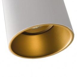 mod-10883089 Modular Lotis Tubed plafondlamp wit goudkleurige binnenkant