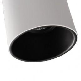 mod-10883029 Modular Lotis Tubed plafondlamp wit zwarte binnenkant