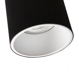 mod-10883037 Modular Lotis Tubed plafondlamp zwart witte binnenkant