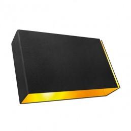 mod-12604132 Modular Split wandlamp LED large zwart goudkleurige binnenkant
