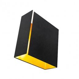 mod-12602132 Modular Split wandlamp LED medium zwart goudkleurige binnenkant