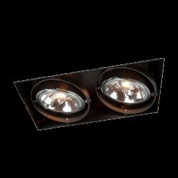 Trimless spot QR111 2-voudig zwart
