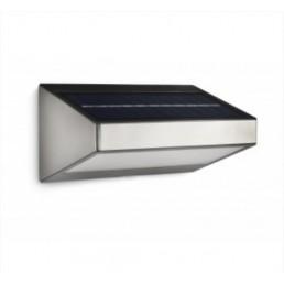 Muurlamp buiten op zonne energie