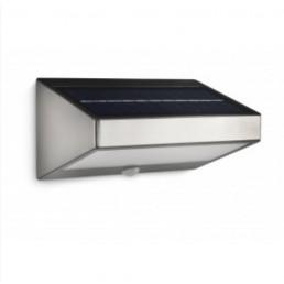 Muurlamp buiten op zonne energie met sensor