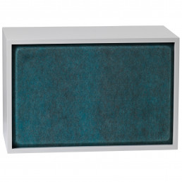 muu-83507 Muuto Stacked kast Acoustic Panel large aqua melange