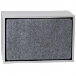 muu-83501 Muuto Stacked kast Acoustic Panel large grey melange