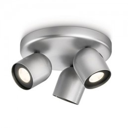 Philips Ledino Zesta 564934816 LED plafondspot zilvergrijs