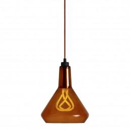 plu-PL-21 Plumen Drop Top set hanglamp amber
