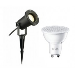 SLV 227410 Nautilus Spike XL + Philips GU10 led lamp