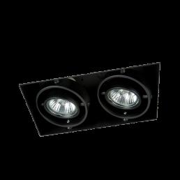 Zwarte inbouwspot trimless GU10 2-voudig