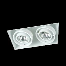 Witte inbouwspot trimless GU10 2-voudig