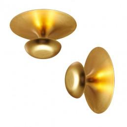 vib-2012-51 Vibia Funnel plafondlamp LED bladgoud