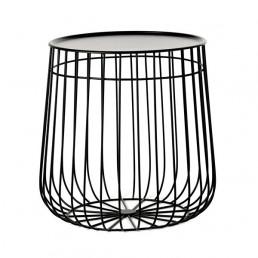 pol-300-010-005-zwt Pols Potten Wire Storage salontafel zwart